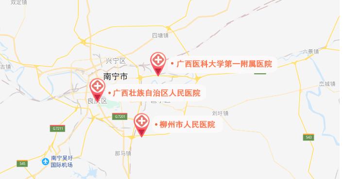 广西试管婴儿医院地图