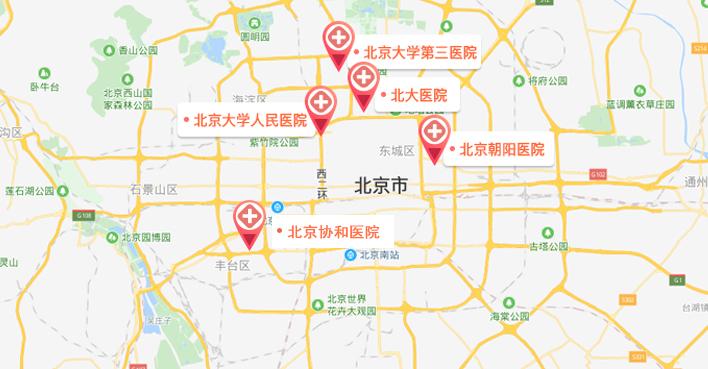 北京试管婴儿医院地图