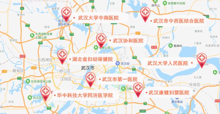 武汉试管婴儿医院地图
