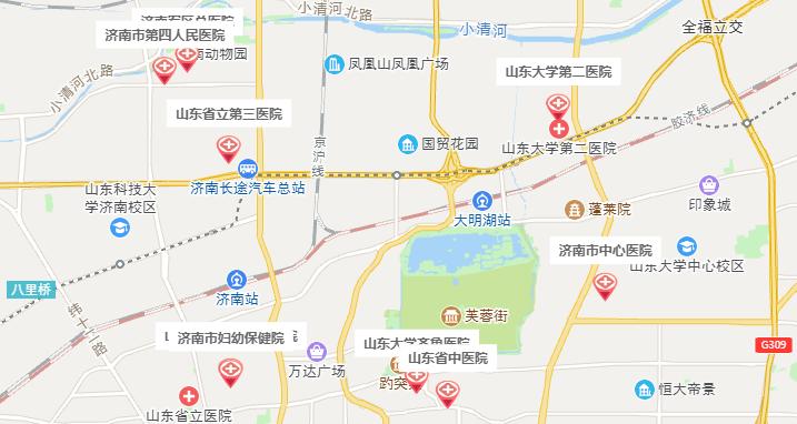 济南试管婴儿医院地图