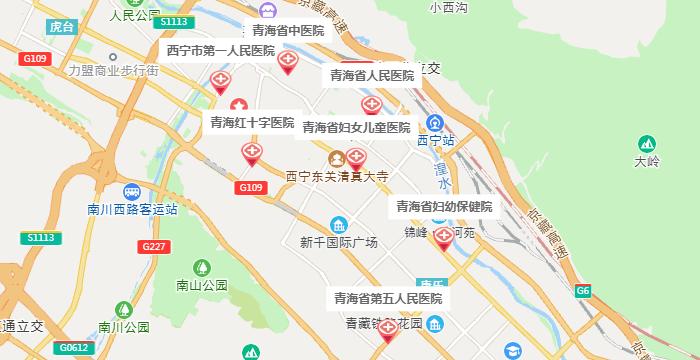 西宁试管婴儿医院地图