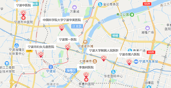 宁波试管婴儿医院地图